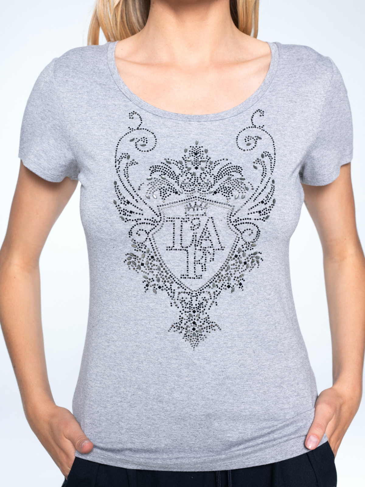 T-shirt z ozdobnym logo L`AF RIMELL