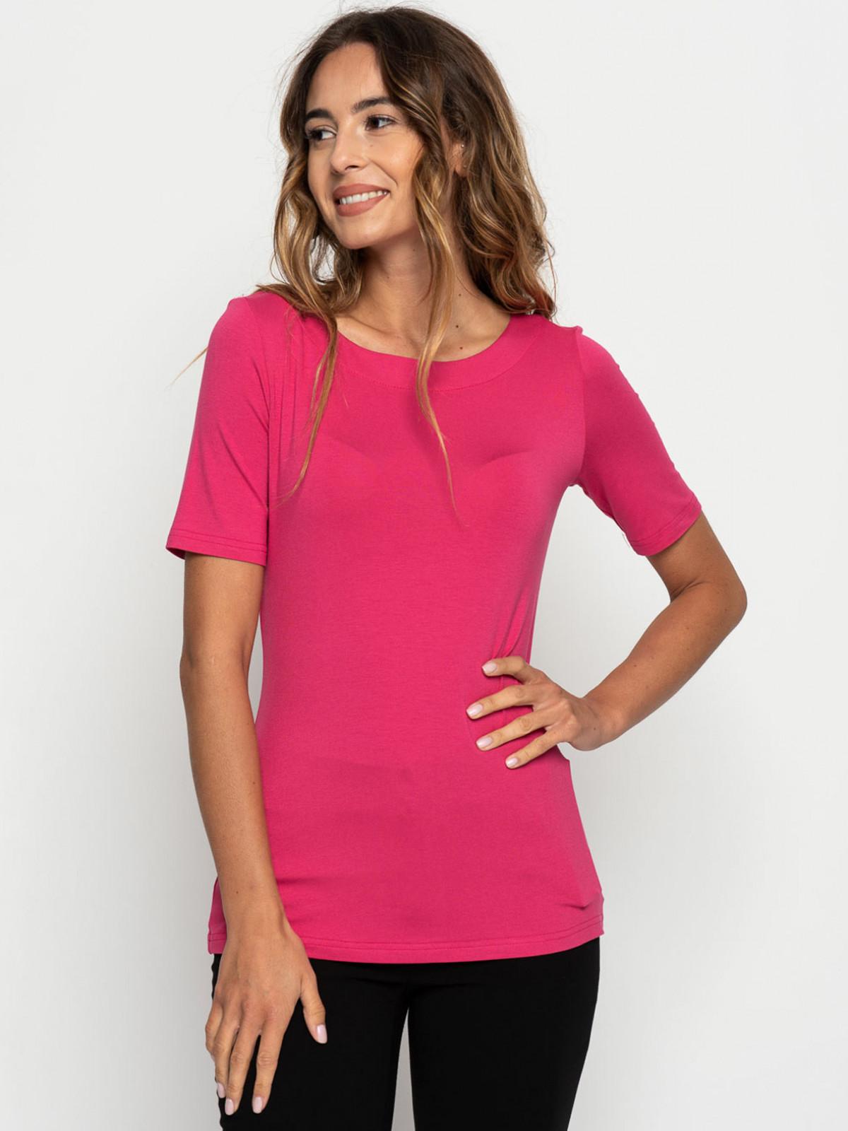 Różowy t-shirt damski Bialcon