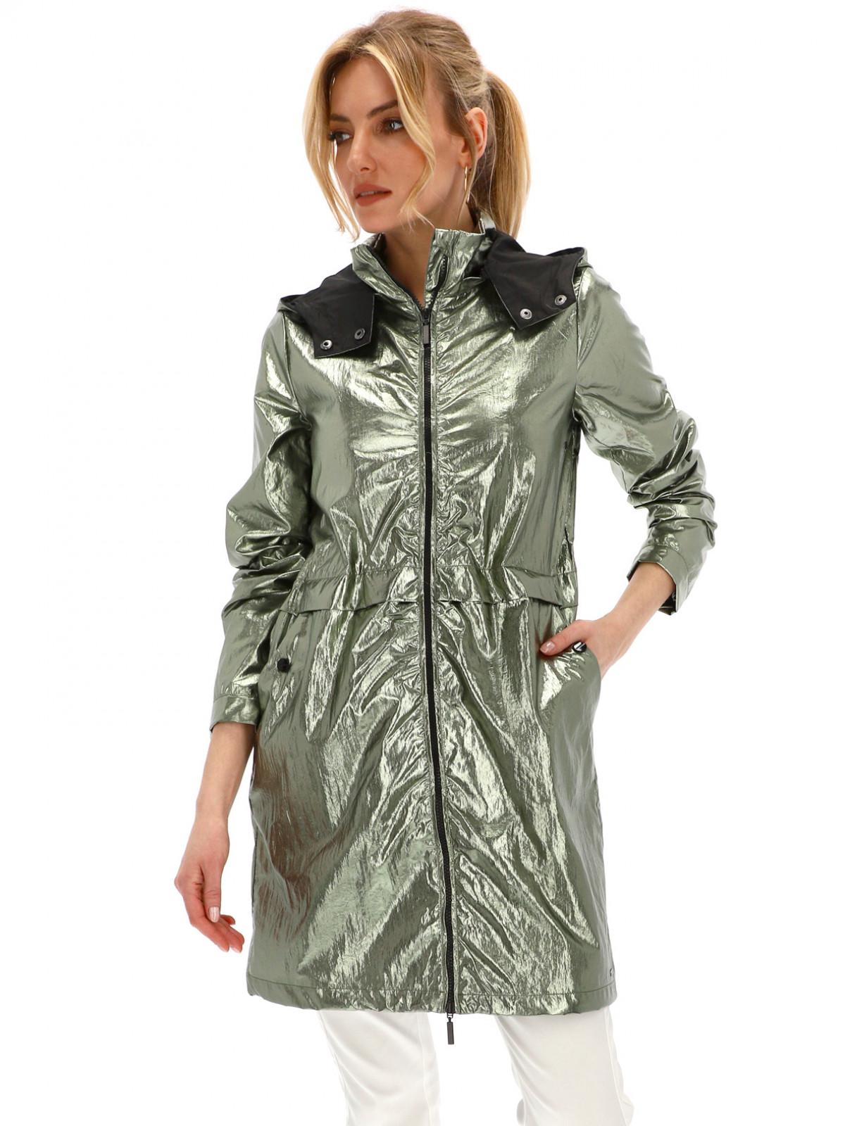Delikatnie wydłużona zielona kurtka Rino & Pelle GLAMOUR 607