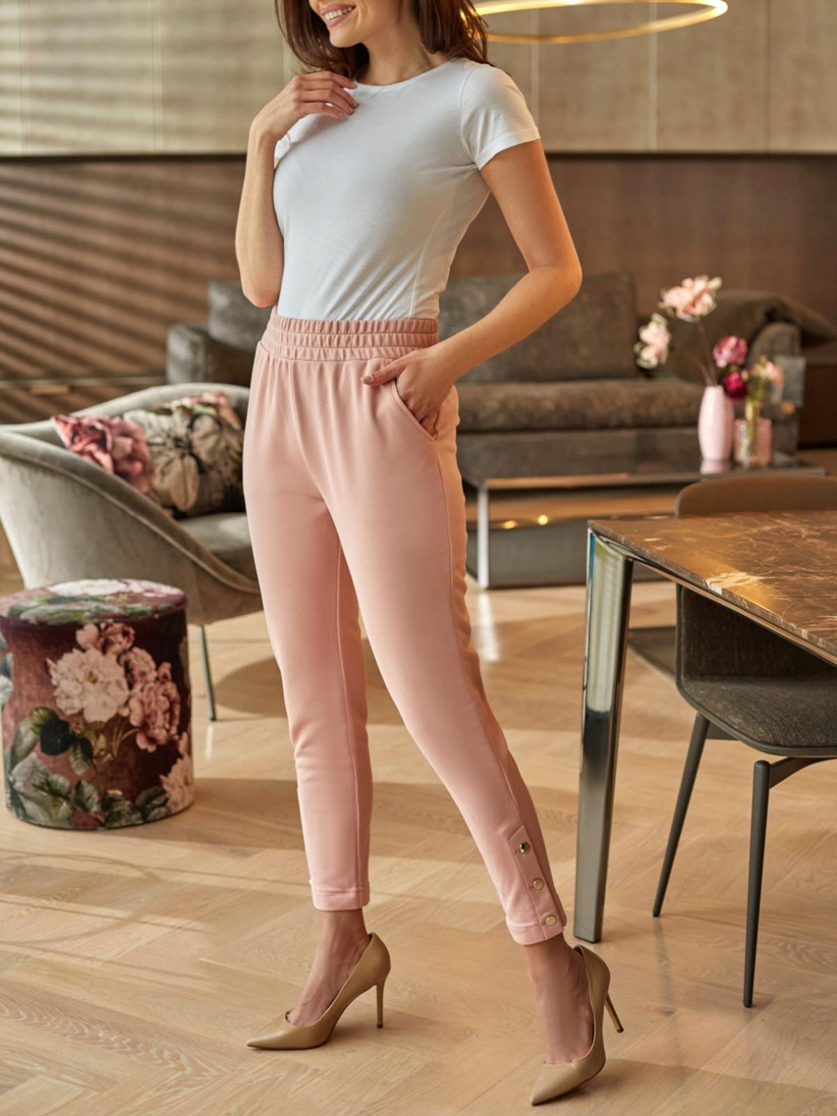 Damskie spodnie dresowe z ozdobnymi nogawkami L'AF ROKEL