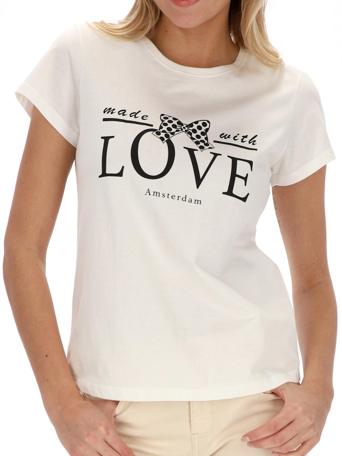 Biały t-shirt z nadrukiem Smashed Lemon 21214-009