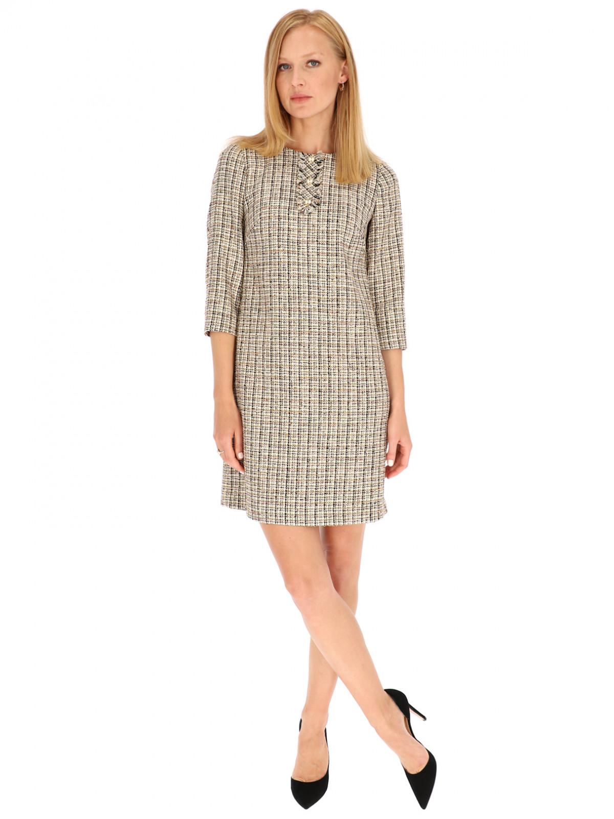 Prosta sukienka w kratkę L'AF Murano