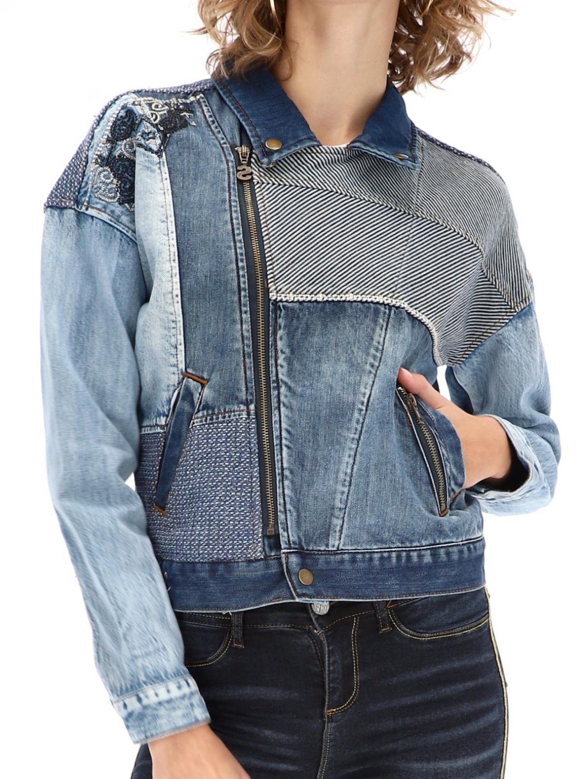 Jeansowa kurtka typu ramoneska Desigual EMI