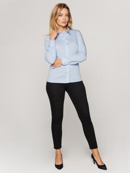 Bawełniana błękitna koszula Bialcon