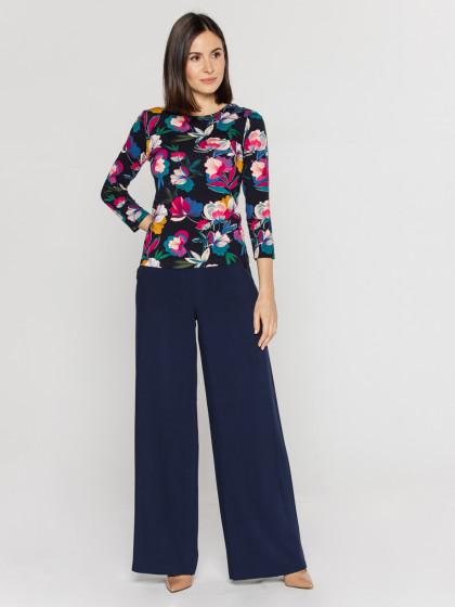 Spodnie szwedy zwysokim stanem Bialcon